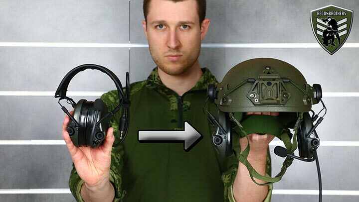 How to Mount a Headband SORDIN Supreme Mil on a Helmet - Blogpost Pic